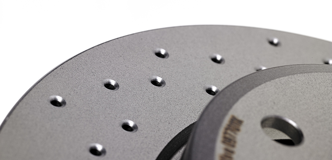 Brembo aftermarket disc in cast iron Xtra model perforated vented with UV paint