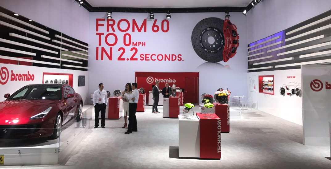 Brembo Displays Road And Race Technology At NAIAS Brembo - Car show display flooring