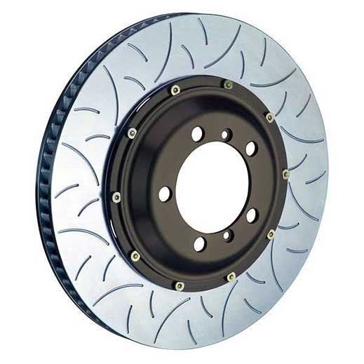How disc face types (slot / groove types) affect brake performance